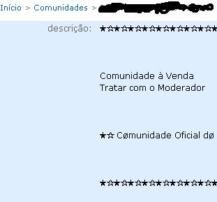 Vendas de comunidades no orkut?