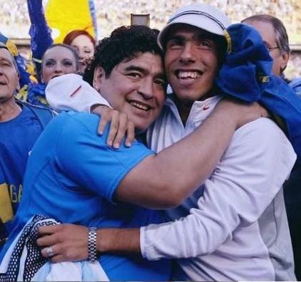 Maradona e Tevez