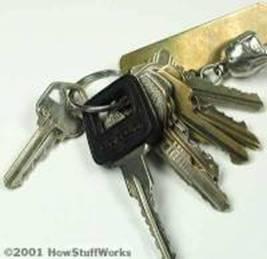 Molho de chaves chaveiros
