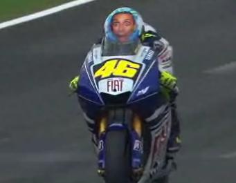 Capacete do Valentino Rossi-Moto velocidade