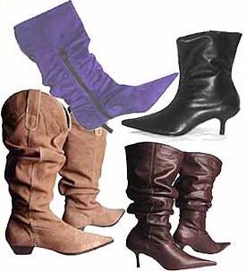 Moda-Botas com salto ou baixas