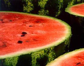 Mulher Moranguinho-Melancia as frutas estão em alta