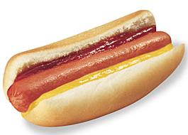 Cachorro quente com 2 salsichas à R$2,50