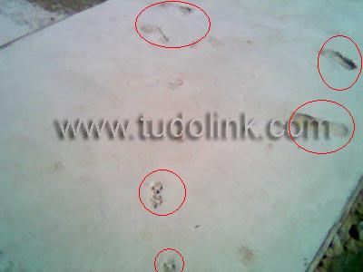 Atenção piso-cimento fresco