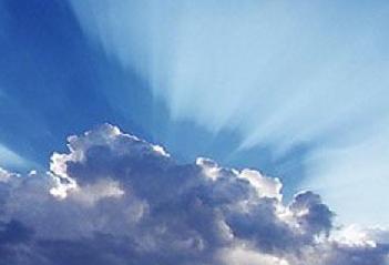 Céu azul a beleza de nosso planeta