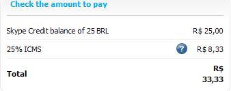 Comprar Créditos do Skype