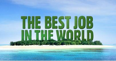 Trabalho-O melhor emprego do mundo ilha Hamilton
