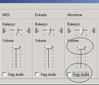 Volume Principal Microfone
