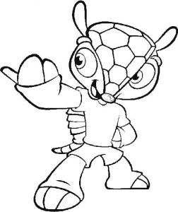 mascote fuleco copa 2014 imprimir colorir