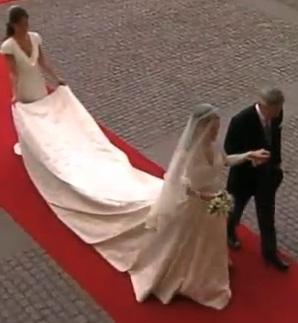 Vestido noiva casamento real