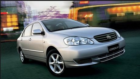 Recall Corolla  XEi e SEG anos 2002 e 2003