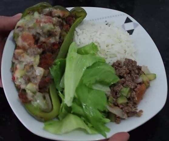 Receita pimentão recheado carne moída simples